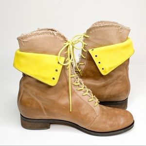 Cole Haan Brielle Chukka Fold Down Lace Up Boots